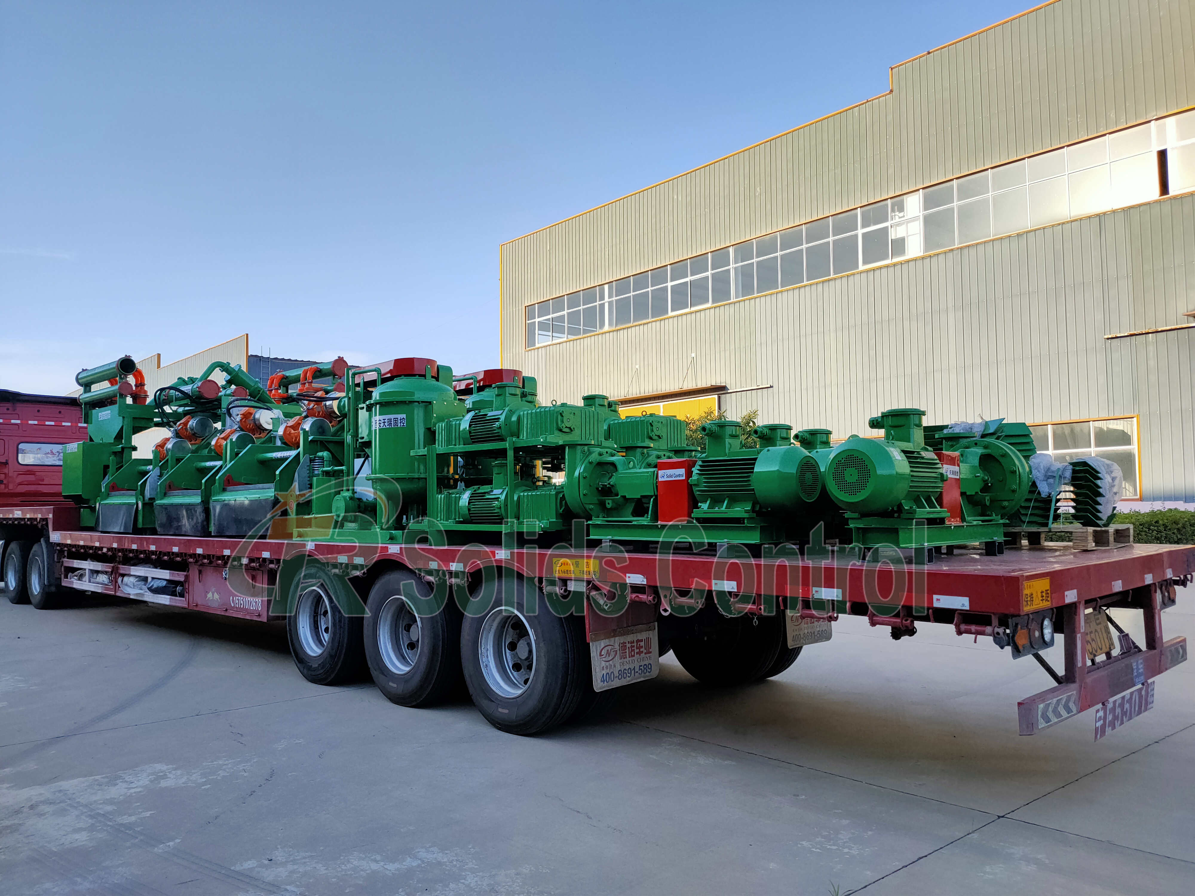 A Batch of Solid Control Equipment Delivery